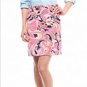 crown & ivy Skirts - Crown & Ivy Paisley Printed Stretch Corduroy Skirt